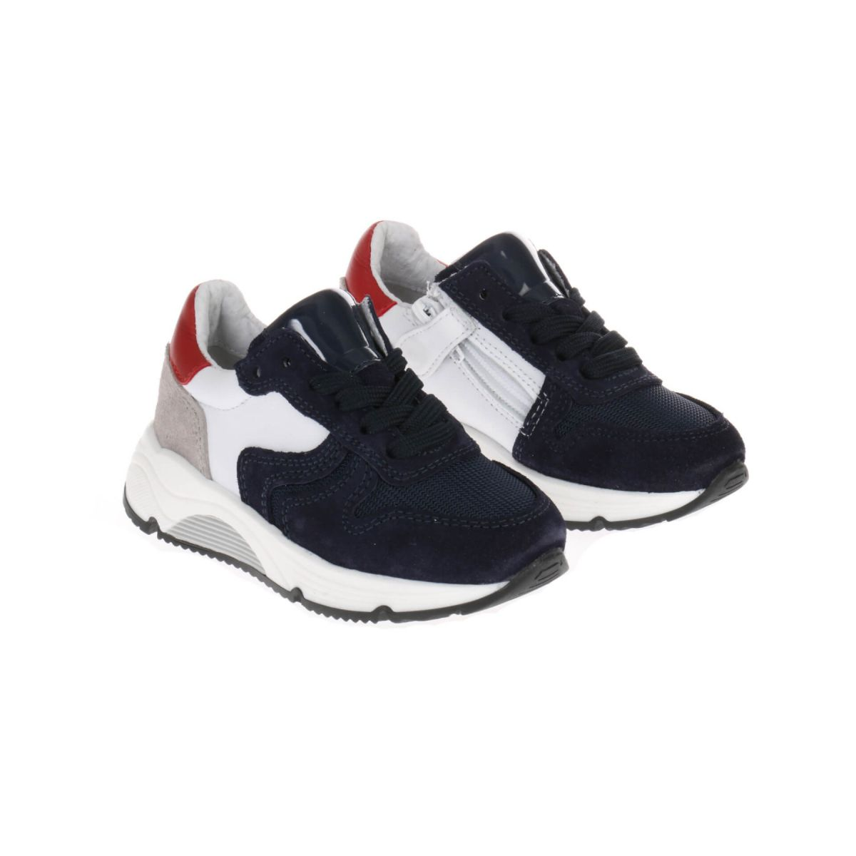HIP H1343 Sneakers Blauw Wit Rood