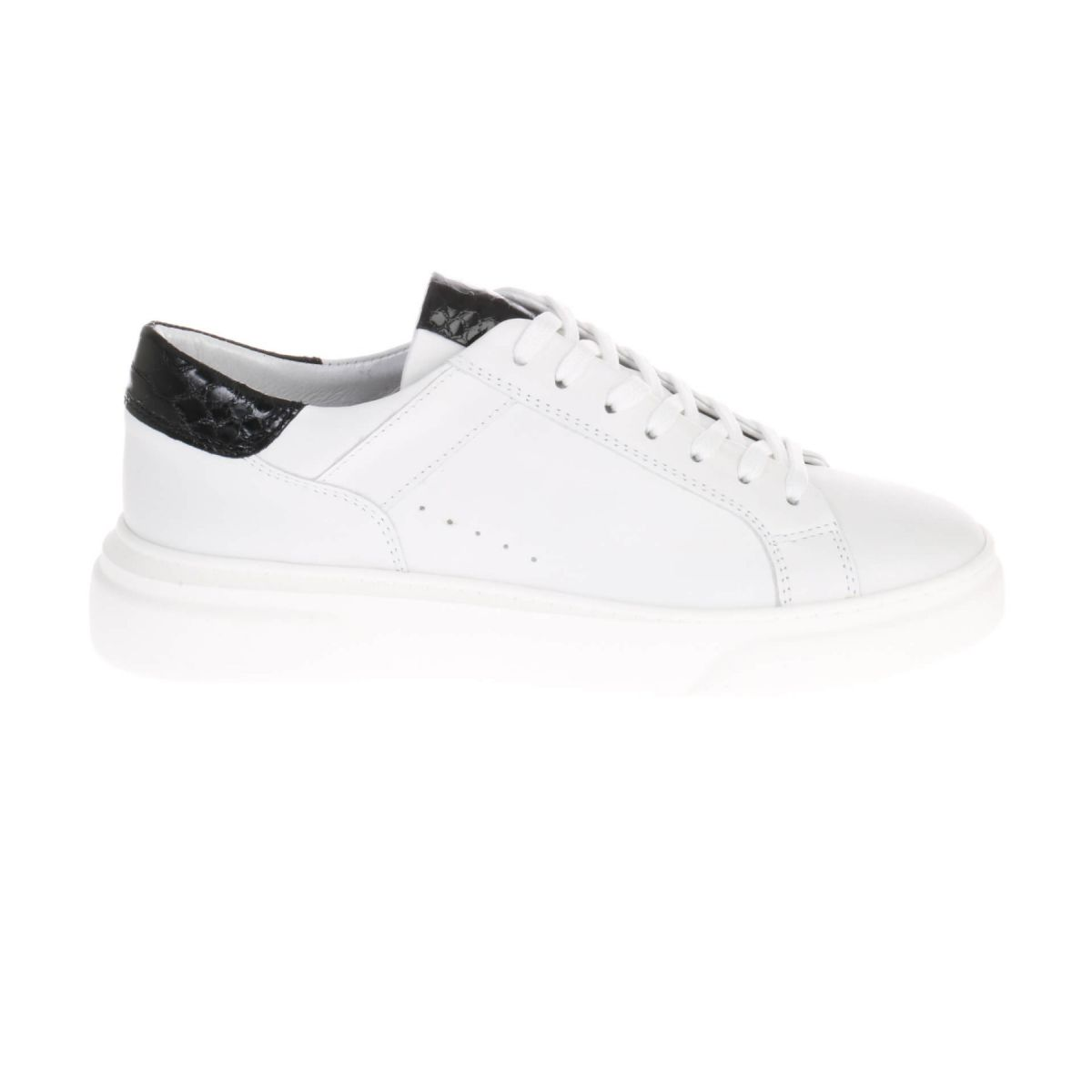 HIP D1917 Sneakers Wit Zwart Croco