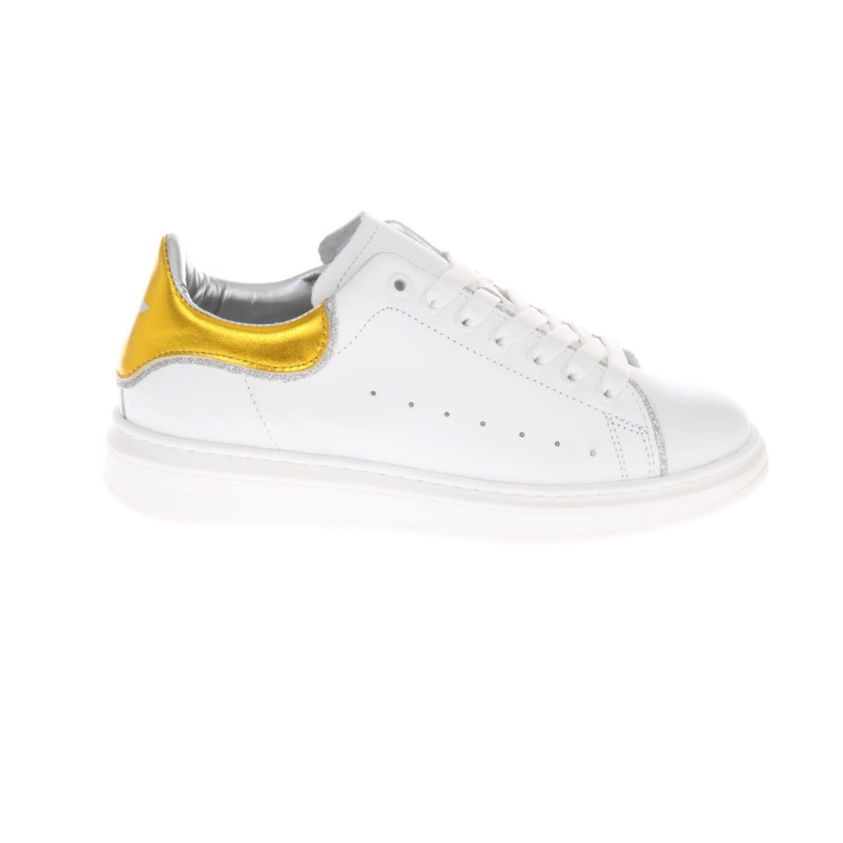 HIP H1219 Sneakers Wit Geel Metallic