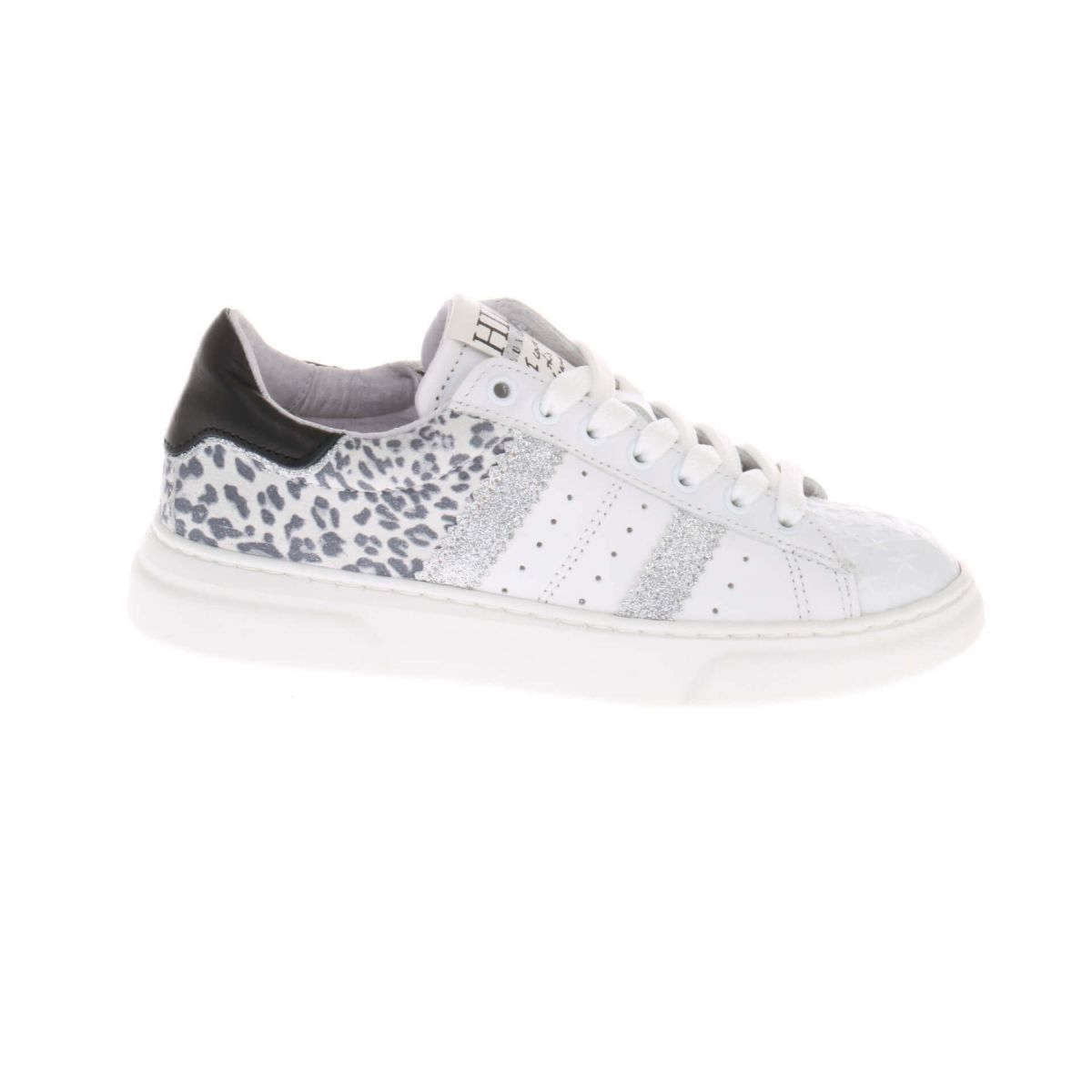 HIP H1261 Sneakers Wit Zilver Panterprint