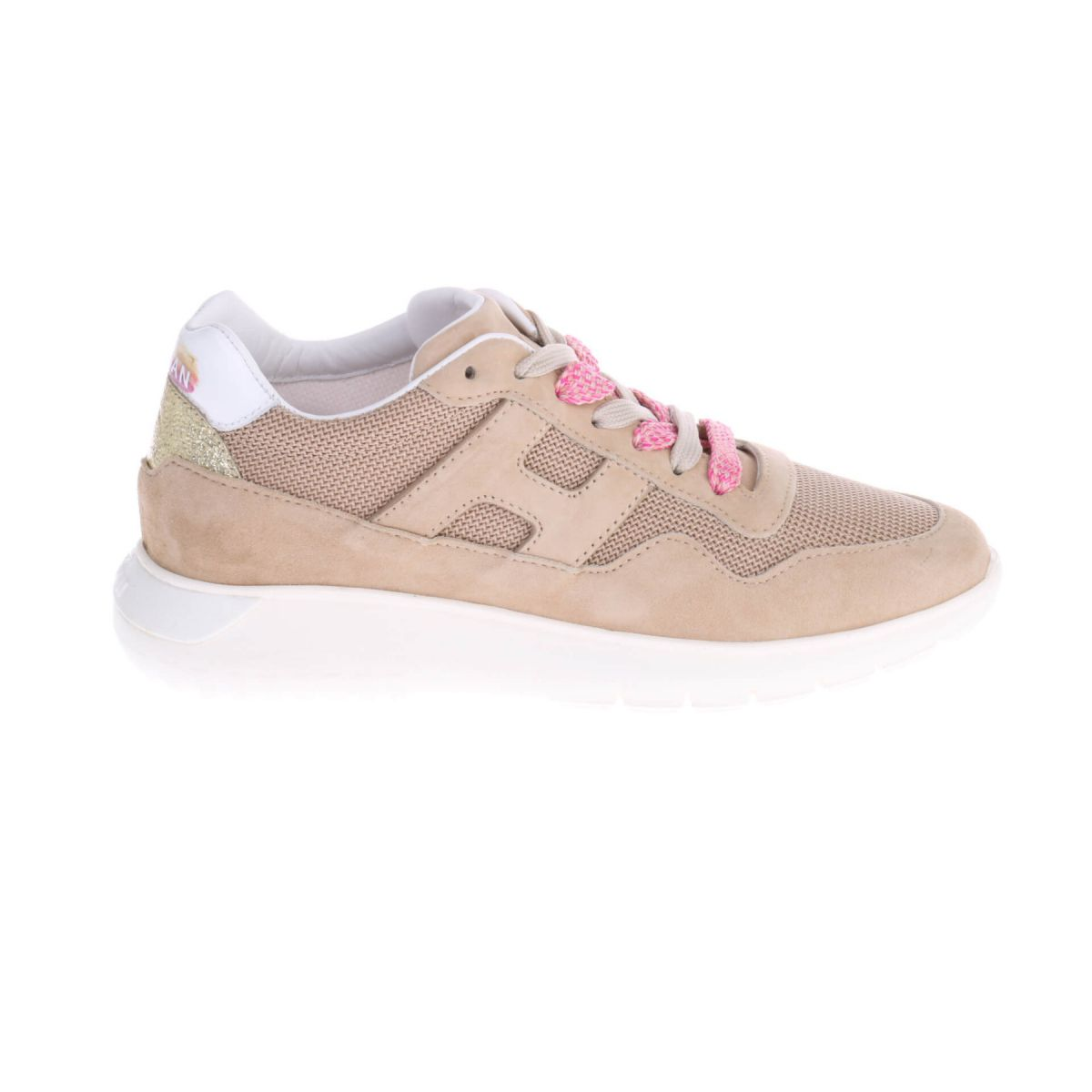 Hogan H371 Interactive Allogo Sneakers Beige