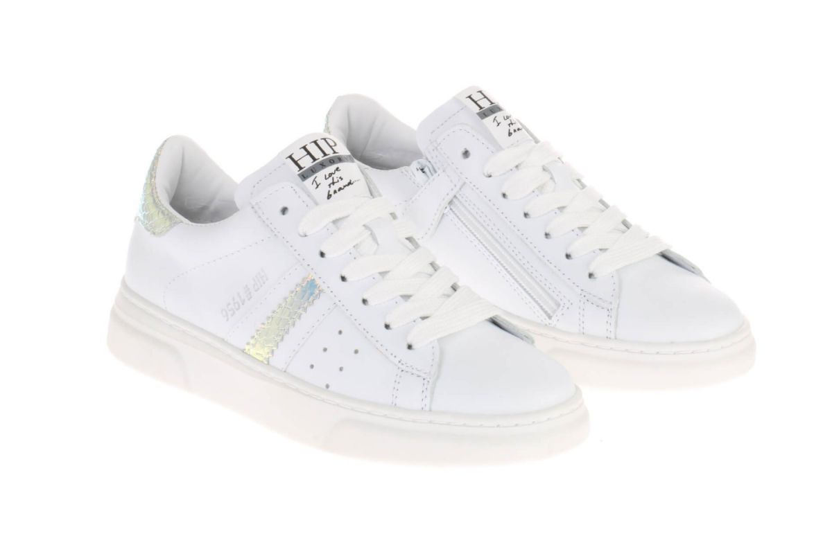 HIP H1272 Sneakers Wit Holografisch
