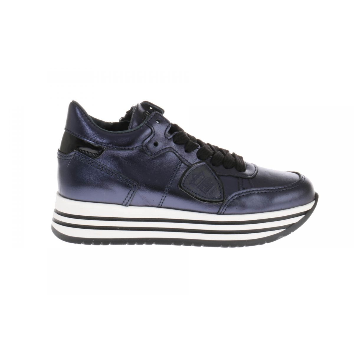 HIP H1151 Sneakers Blauw Metallic