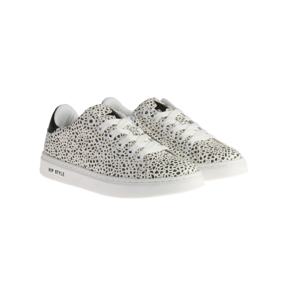 HIP H1253 Sneakers Giraffe Zwart-Wit