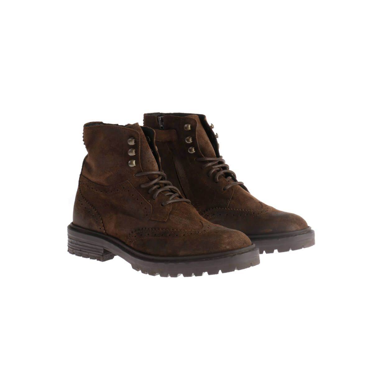 Boots Brogue Donker Bruin
