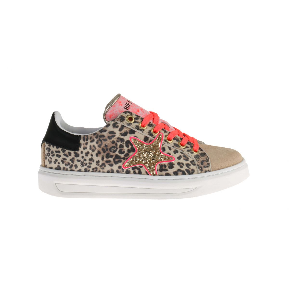 HIp H1790 Sneakers Panter Fluor Roze