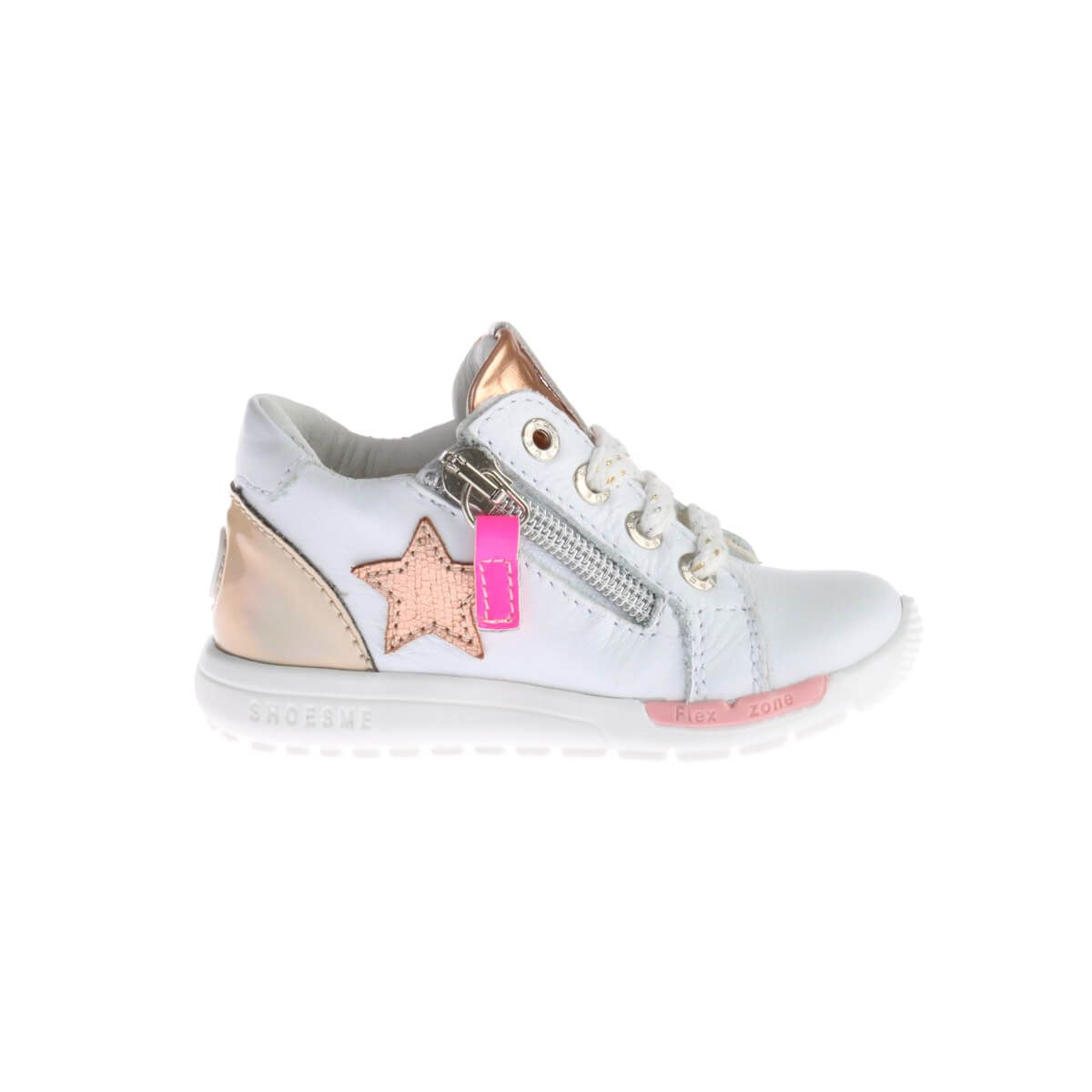 Shoesme Runflex Sneakers Wit Brons